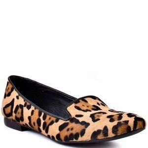 Steve Madden Leopard Calf Hair Croquet Loafers